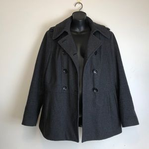 Michael Kors gray wool pea coat size large